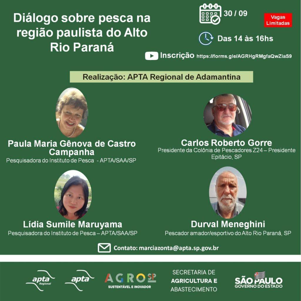 APTA Regional de Adamantina debate pesca no Rio Paraná
